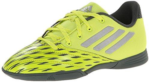 adidas Performance FF Speedkick J Soccer Shoe (Big Kid), Semi Solar Yellow/Metallic/Silver/Urban Peak F, 5 M US Big Kid
