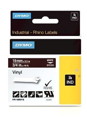 DYMO 1805418 White on brown cinta para impresora de etiquetas - Cintas para impresoras de etiquetas (White on brown, Vinilo, Caja, Bélgica)