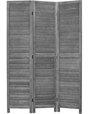 """Wood Room Divider Panel and Privacy Screens 68.9"""" x 15.75"""" Each Panel for Home Office Bedroom Restaurant"""