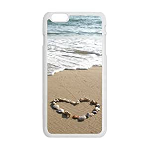 """Danny Store Hardshell Cell Phone Cover Case for New iPhone 6plus 5.5 (""""), Seashell Heart"""