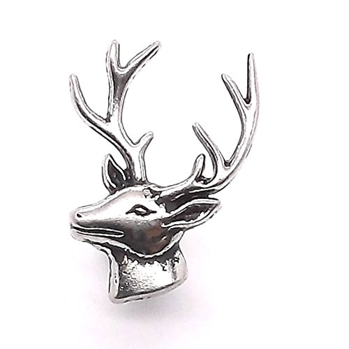 Deer Head Left Facing Nickel Concho Snap Cap 1
