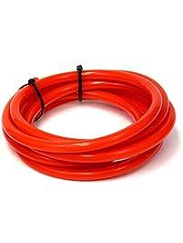 HPS HTSVH35-REDx5 Red 5' Length High Temperature Silicone Vacuum Tubing Hose (60 Psi Maximum Pressure, 3.5mm Id)