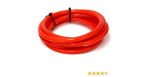 HPS HTSVH159-REDx5 Red 5 Length High Temperature Silicone Vacuum Tubing Hose 25 psi Maxium Pressure, 5//8 ID