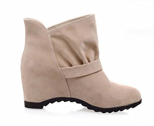 Women's Booties Beige Boots Heighten Dressy Aisun Lady Ankle gOpWcBqHdn