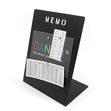 Magnettafel Memoboard mit Marker beschreibbar - 180 x 120 x 235mm inkl. Magnete - Schreibtisch Magnetboard Magnetpinnwand Magnet Whiteboard Pinnwand zum beschriften, Farbe:schwarz Magnosphere