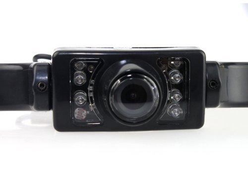 wasserdicht Nachtsicht BW R/ückfahr-Kamera zur Befestigung am Nummernschild drahtlos um 135/° drehbar CMOS-Sensor