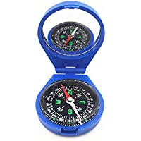 KNAFS New Portable Compass with Mirror for Pocket Outdoor Camping with Emergency Survival Climbing Camping Survival Equipment.