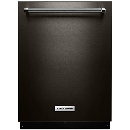"KitchenAid 24"" Built-In Dishwasher Black stainless KDTM354EBS"