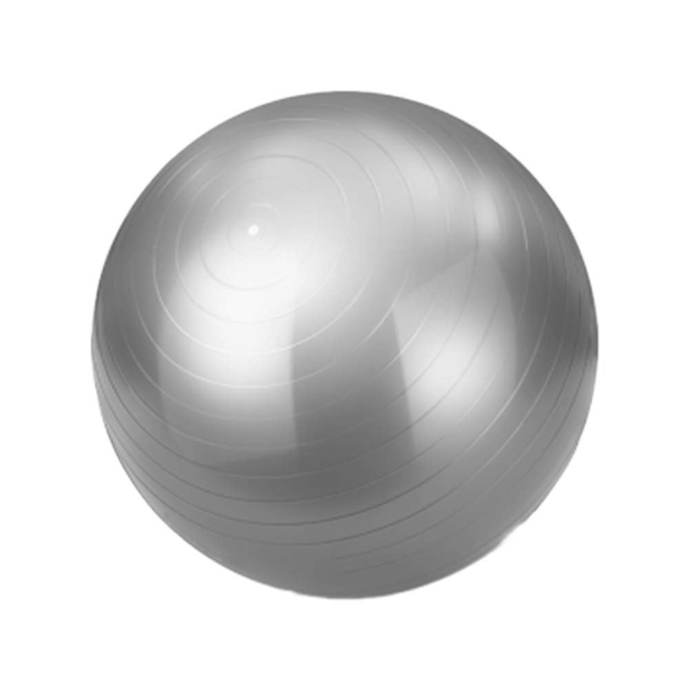PANGU-ZC Exercise Ball - Yoga Ball Super Thick Anti-Skid Explosion-Proof Slimming Pregnant Woman Delivery, for Home Gym Desk (Color : Silver, Size : 85CM)