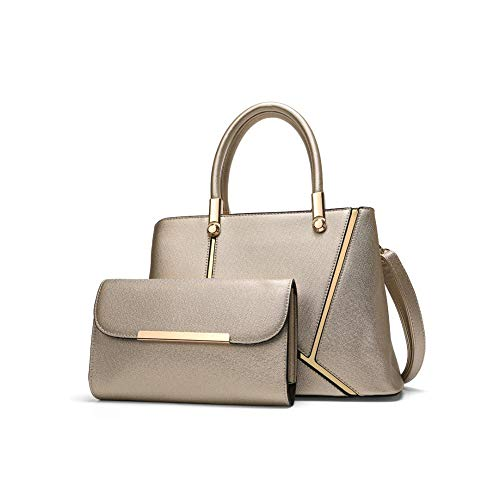 Fashionable 5 X for work PU leather ladies 12 30 X clutch elegant 2 CM Gold bag 5 20 and handbag everyday wallet handbags use suitable shoulder beige travel 5 n7WnBc