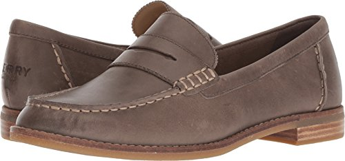 Sperry Top-Sider Women's Seaport Penny Loafer, Dark Taupe, 9 Wide (Ladies Penny Loafers)