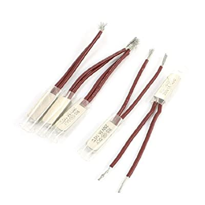 Uxcell a14010300ux0306 5 Piece Circuit Protection 250V 5 Amp, 145C NC Temperature Thermal Switch
