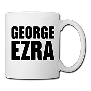 Christina George Ezra Logo Ceramic Coffee Mug Tea Cup White