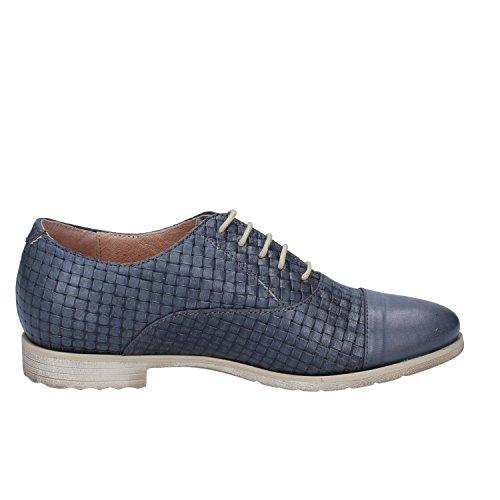 De Mujer Cordones Turquesa Zapatos Para Piel Mally 6UqOOw