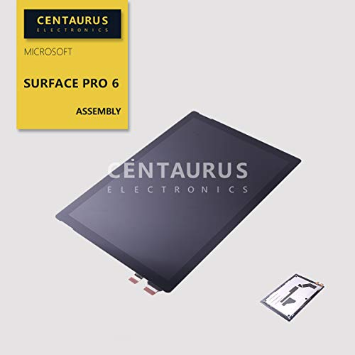 CENTAURUS Screen fit Microsoft Surface Pro 6 LP123WQ1 (SP) (A1) 2736 x 1824 12.3 inch LED LCD Display Touch Digitizer Assembly Replacement Parts