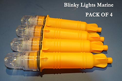 Blinky Lights Marine Fishing Strobe for Lobster/Crab Hoop NET White LED Flashing, Pack of ()