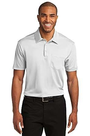Port Authority Men's Silk Touch Performance Short Sleeve Pocket Polo_White_2XL