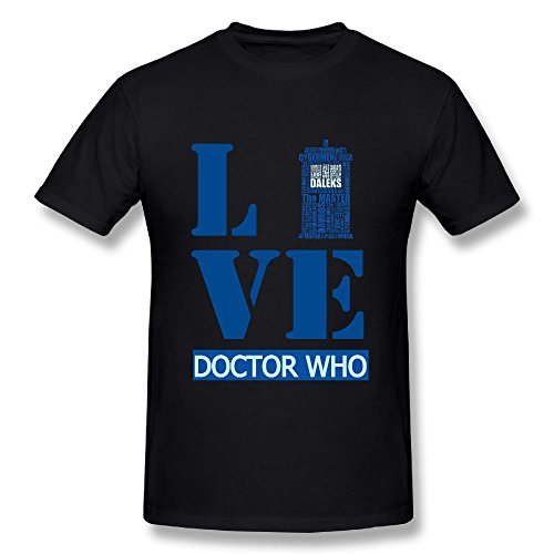Doctor Classic Series Figures - Rebecca-P Mens T-Shirt-Classic Doctor Who Black XL