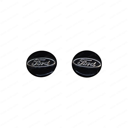 Bross BDP862FBA 2 Pieces Car Key Logo Auto Emblems 14 mm for Ford