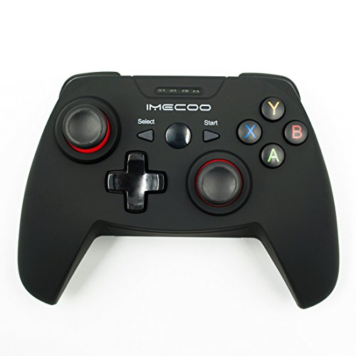 IMECOO 2.4GHz Wireless Gamepad Gaming Controller with Bracket for PS3 PC Android Smartphone TV Box