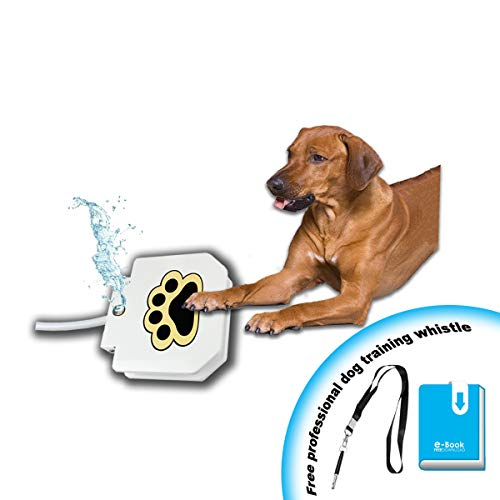 (KninePal Redesigned 2018 Outdoor Dog Step on Water Fountain   Dog Water Sprinkler   Keep Pets Well Hydrated   Eco-Friendly, Convenient, and Fun   2 Free Bonus)