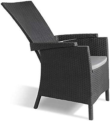 Allibert by Keter Vermont Rattan Reclining Chair Outdoor