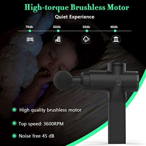 OBOR Deep Tissue Massage Gun Electric Full Body Handheld Muscle Percussion Massager 5 Speed Adjustable Quiet & Powerful Device for Personal Health Care 41j7okiil4L
