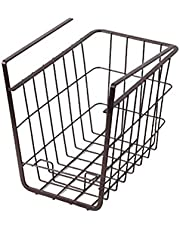 HOUZE OKN-GSL0551 Overhead Shelf Hanging Basket - Matt Black (Dim: 16x25.5x21.5cm)