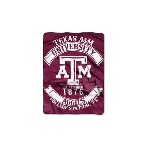(The Northwest Company NCAA Texas A&M Aggies Rebel Raschel Throw Blanket, 50