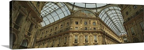 Canvas On Demand Premium Thick-Wrap Canvas Wall Art Print entitled Interiors of a shopping mall, Galleria Vittorio Emanuele II, Milan, Lombardy, Italy - National Shopping Place Mall