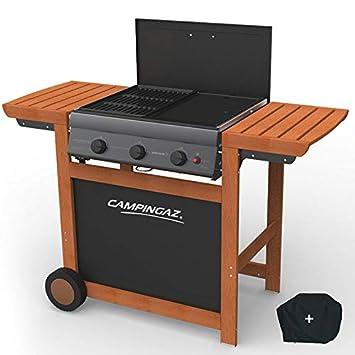 Universo del Pro Barbacoa a Gas Grill y Plancha Campingaz Adelaide 3 Woody L Piezo 14 kW Duo Grill Plancha Funda Offerte: Amazon.es: Jardín