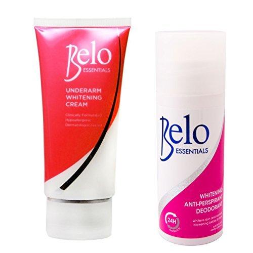 Belo Essentials Underarm Whitening Set - Whitening Roll-on Deodorant and Whitening Underarm Cream - Whitens Stubborn Underarms FAST!!! (Best Whitening Cream Philippines)