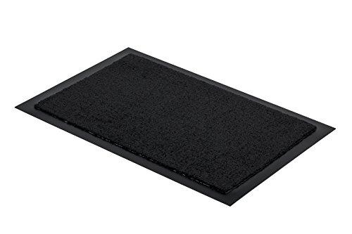 Astra FS1618015044 Sauberlaufmatte, Türmatte, Fußmatte Selena für den Innenbereich, 40 x 60 cm, schwarz