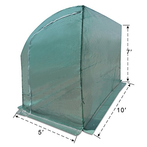 Strong Camel New Large Walk-in Wall Greenhouse 10x5x7'H w 3 Tiers/6 Shelves Gardening (Green) by Strong Camel (Image #3)