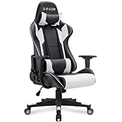 This Homall Gaming Chair extends the full length of the back with support for the shoulders, head, and neck. Our chairs are crafted to perfection and designed to the bodies natural shape, you will find complete comfort with its Furniture Qual...