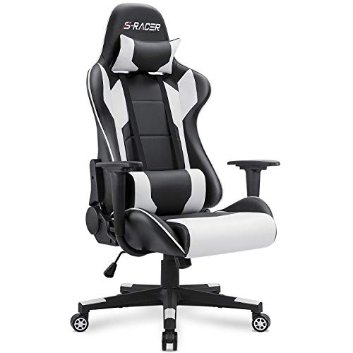 Strange Homall Gaming Chair Office Chair High Back Computer Chair Pu Leather Desk Chair Pc Racing Executive Ergonomic Adjustable Swivel Task Chair With Caraccident5 Cool Chair Designs And Ideas Caraccident5Info