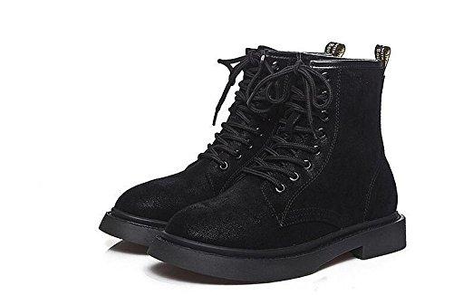 autunno stivali women e velluto rotonda stivali corto inverno li scarpe cotone bo piatta stivali tubo di black Martin più kuki x6gwZ56