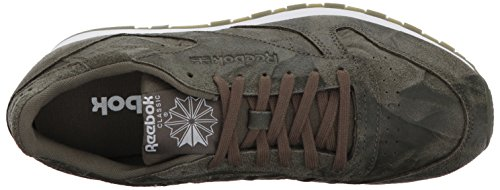 Reebok Uomo Cl In Pelle Cte Fashion Sneaker Verde Militare / Bianco