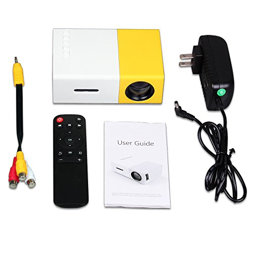 Portable mini projector LED micro projector home party meeting theater projector]()