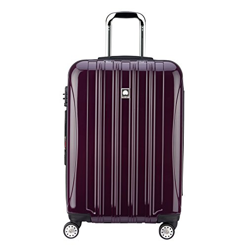 Delsey Luggage Helium Aero 25 inch Expandable Spinner Trolley, Plum