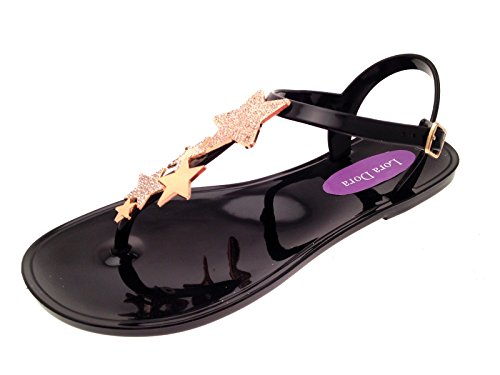 Lora Dora Womens Star Jelly Sandals Black Jhl5vQN