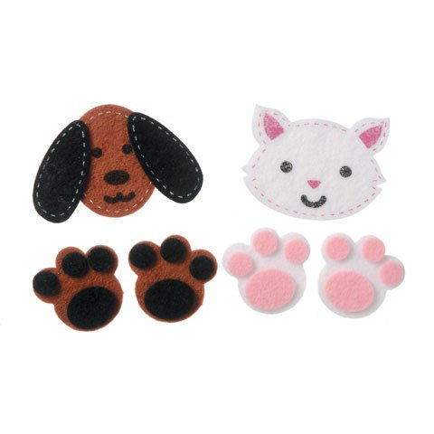 Bulk Buy: Darice Crafts for Kids Felties Felt - Felt Dog Stickers