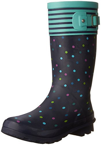 (Western Chief Girls Waterproof Classic Youth size Rain Boots, Dazzling Dot, 13 M US Little Kid)