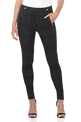 Knit Works - Rekucci Women's Secret Figure Pull-On Knit Skinny Pant (14,Black/Multi Houndstooth)