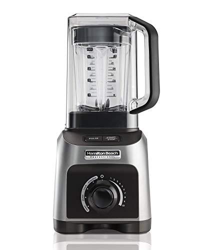 Hamilton Beach Professional 1500W Quiet Shield Blender with 32 oz BPA-free Jar & 4 Programs, Silver (58870) (Renewed) ()