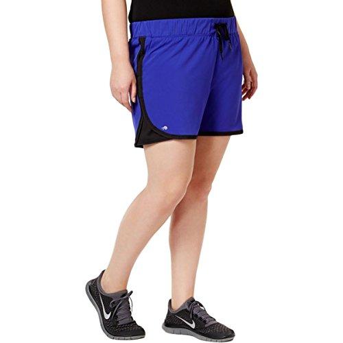 Ideology Womens Plus Comfort Waist Performance Shorts Blue 2X