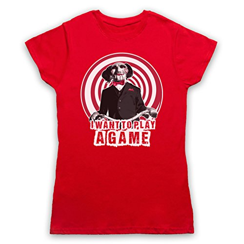 Inspired Apparel Inspiriert durch Saw Billy The Puppet Inoffiziell Damen T-Shirt Rot 6rW6C