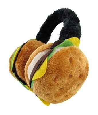 Adult Cheeseburger Hamburger Earmuffs Ear Muffs