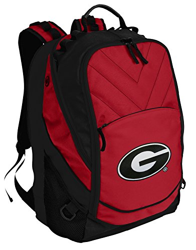 Georgia Bulldogs Backpack Red University of Georgia Laptop Computer Bags by Broad Bay