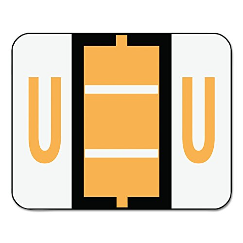Smead BCCR Bar-Style Alphabetic Color-Coded Labels, Letter U, Light Orange/White Bars, 500 Labels per Roll (67091)